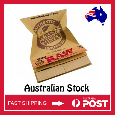RAW Classic King Size Slim Artesano Rolling Papers with Tips (AUSTRALIAN STOCK)