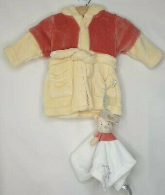 Disney Winnie The Pooh Yellow Dressing Gown Robe and Comforter Set 0-3 Months
