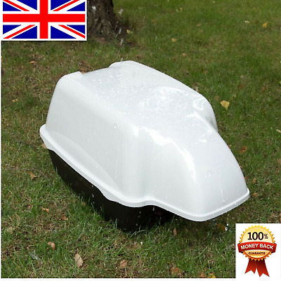 Outdoor Cat Toilet Waterproof Covered Hooded Litter Tray XL Deep Box Large Cats