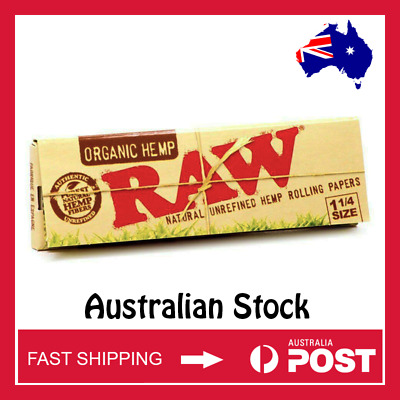 RAW Organic Hemp 1 1/4 Width Rolling Papers (AUSTRALIAN STOCK - FAST SHIPPING)