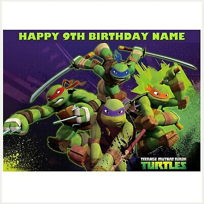 TMNT NINJA TURTLES Personalised Edible Image REAL Icing