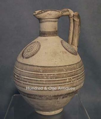 Ancient Greek Cypriot Bichrome Ceramic Wine Jug CYPRUS 750-600 BC