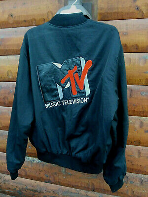 Vintage MTV Jacket Coat 1980's Music Television Show Video
