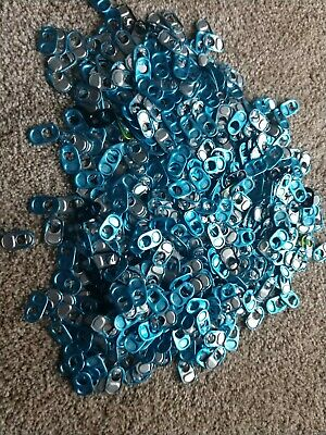 200 light Blue Monster Energy Drink Can Pull Tabs Soda Pop Tops