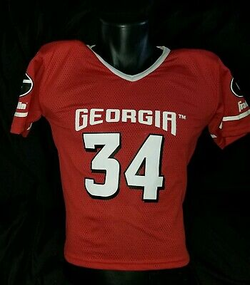 0c8cd549767 Vintage Georgia Bulldogs Herschel Walker Franklin Jersey with Shoulder Pads