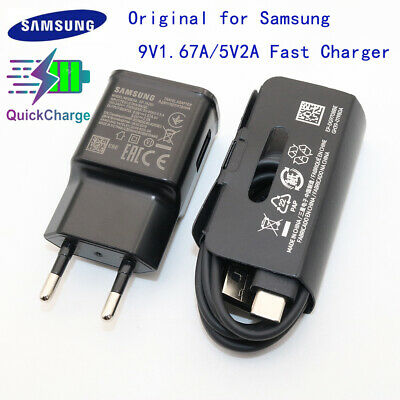 Original Samsung S10 Fast Charger For Galaxy S8 S9 Plus Note 8 9 A3 A5 A7 2017