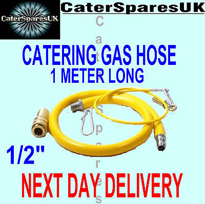 Caterflex Commerciale Catering Tubo Flessibile Gas 12 1000mm 1m