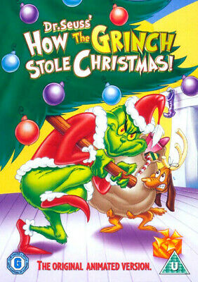 How The Grinch Stole Christmas DVD - NEW Sealed - Dr Seuss original animation