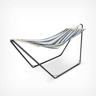 Swinging Garden Hammock with Metal Frame Stand Single Outdoor Camping Sun Bath