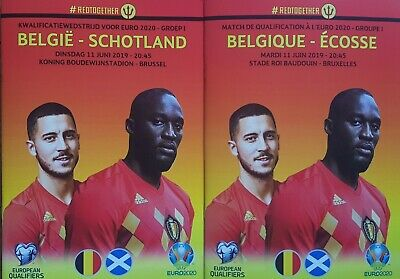 2019 BELGIUM v SCOTLAND EURO 2020 QUALIFIER PROGRAMME FROM THE GROUND