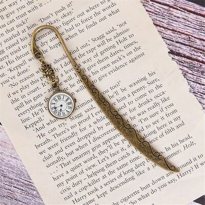 Student Funny Clock Metal Bookmarks Vintage Retro Tower Book Marker Paper Clips