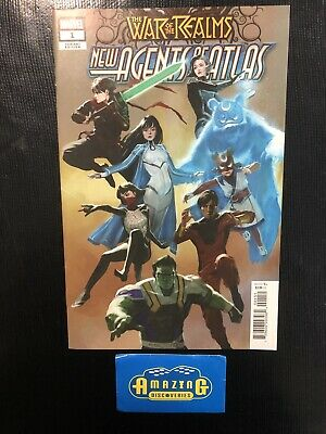 War of the Realms New Agents of Atlas #1 1:25 Park Variant Marvel 2019 1st App