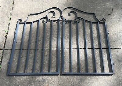 Architectural Vintage Metal Garden Gate Doors Scroll Light Wrought Iron