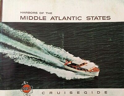 "Vintage Nautical 1960 ""Harbors Of The Middle Atlantic States"" Gulf Cruisegide"