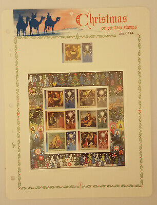 Anguilla Christmas Stamps From 1971 to 1973, On Hingeless Pages