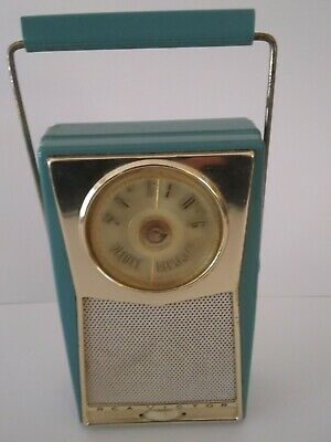 Rare Color!! Vintage RCA Victor Deluxe Transistor Radio Swing Handle - AS IS