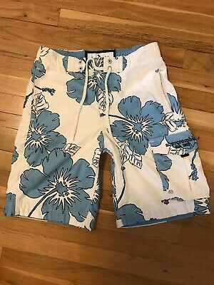 ff9728f496 ABERCROMBIE BOYS FLORAL Swim Trunks Board Shorts Swimsuit Size Small ...