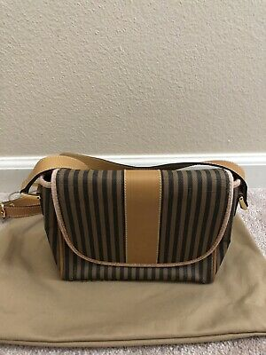 91263637a5 FENDI VINTAGE bag authentic Crossbody W/leather Made In Italy ...