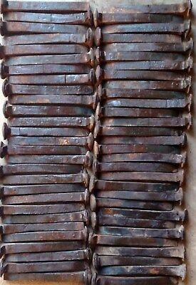 "60 Vintage Railroad Spikes  6 1/2"" Mostly HC, Rust, ALL Slight Bent GREAT VALUE"