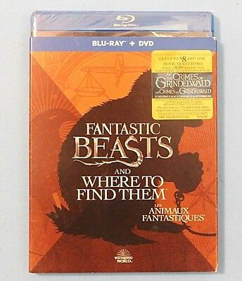 Fantastic Beasts and Where to Find Them Blu-ray Disc + DVD, 2017 BRAND NEW