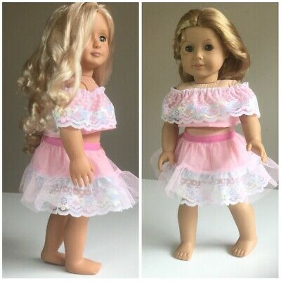 """Fit American Girl And Our Generation. Skirt And Top ONLY 18"""" Doll Clothes."""