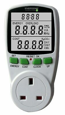 ENERGENIE Energy Saving Power Meter for any UK Household Appliance UK Plug