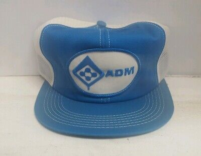 506013d6 Vintage ADM Seed Farmer Trucker Hat Patch Snapback Mesh K-Brand Made in USA