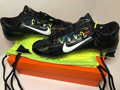 d18981b1feff USED NIKE AIR Zoom Vapor Carbon Fly TD Football Cleats Black White ...