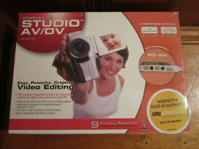 Pinnacle Studio AV/DV Version 9 Deluxe Video Editing & Effects Package NEW