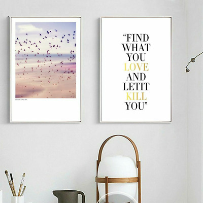 Nature Wall Canvas Posters Motivational Quote Paintings Home Room Art Decoration