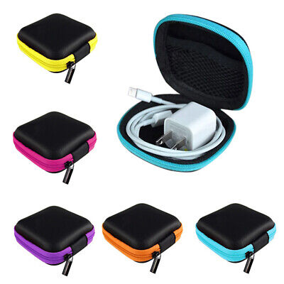 Zip Carrying Storage Bag Pouch Hard Case For Earphone Headphone Earbud Newst