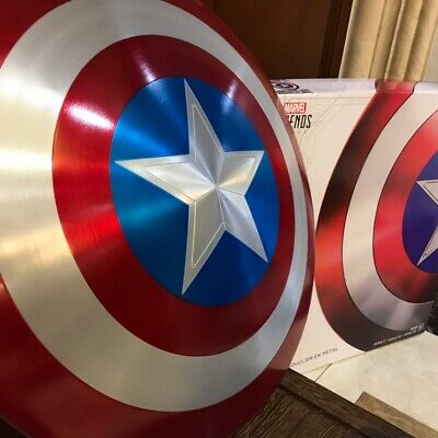 Captain America 75th Anniversary Avengers Shield Alloy Metal 1:1  Lacquer Bake