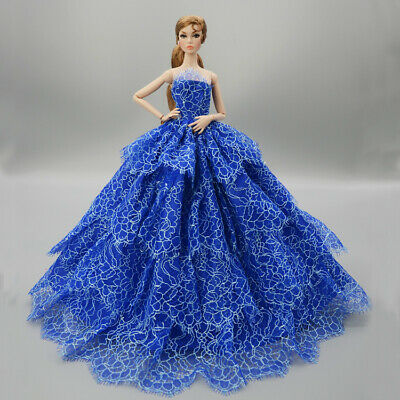 Fashion Handmade Princess Dress Wedding Clothes Gown for 11.5in.Doll #12