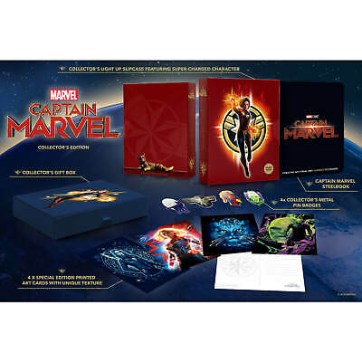 Captain Marvel 3D Zavvi Exclusive Collector's Edition Steelbook + 2D Blu Ray