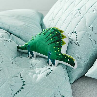 Adairs Kids Dino Bamboo Jersey Quilted Cot Quilt Cover Set BNIP RRP $129.99