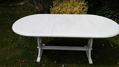 Shabby Chic Extending Wood Table Annie Sloan White