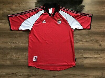 5059177a9b7 Benfica Portugal 1999/2000 Home European Football Shirt Soccer Maglia Adidas