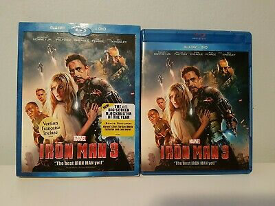 Iron Man 3 (Blu-ray/DVD) with Slipcover French Version Included