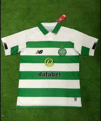 0e4aefb3db0 New 2019-2020 The Celtic Home Soccer Jersey Short Sleeve T-Shirt Men Size