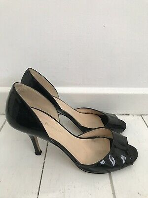 cf0ece394f55 Ladies L.K Bennett Peep Toe D'orsay Black Patent Leather Heels Size 6