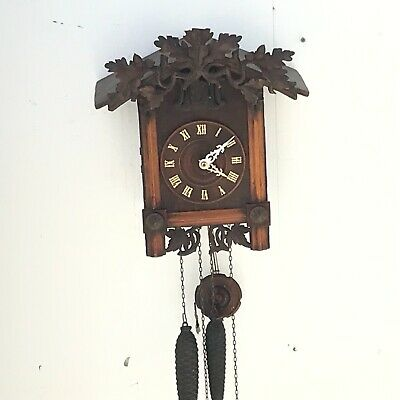 A Good Complete Working Antique Black Forest Cuckoo Clock
