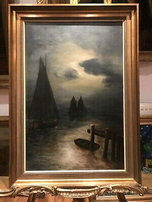 OIL PAINTING Circle of HENRY PETHER FINE PAINTER 19th Century OLD BRITISH SCHOOL