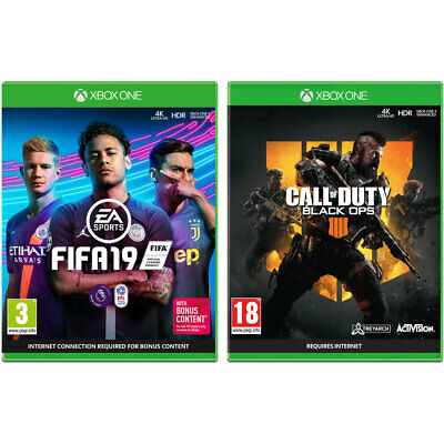 FIFA 19 & Call of Duty: Black Ops 4 Xbox One Enhanced for Xbox One X NEW SEALED