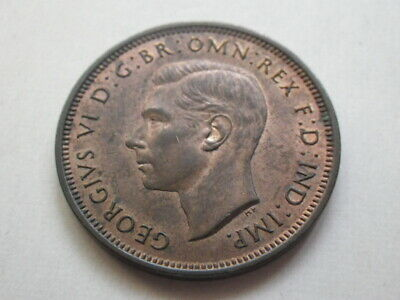 George VI 1938 Half Penny (EF)  Traces of Lustres