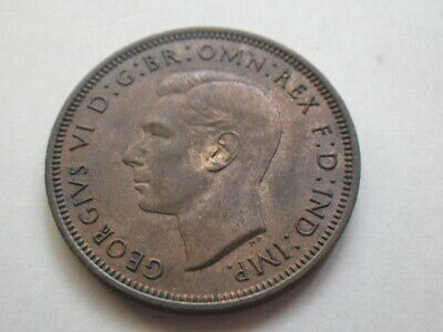 George VI 1940 Half Penny (EF)  Traces of Lustres