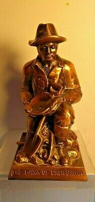 The Bank Of California Vintage Collectible Figure Bank Statue - No Key -