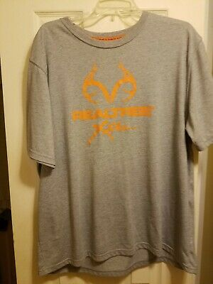 Realtree Deer Antler Logo Mens T-Shirt Bright Yellow by Delta Pro Weight NWT