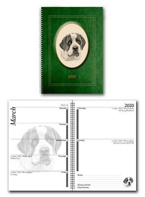 St Bernard 2020 Large Dog Show Diary with Show Dates in a choice of 7 colours