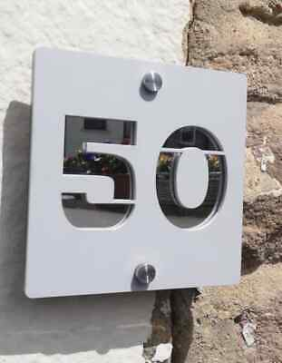 Layered Acrylic House Sign/ number -personalised door plaques/ door numbers