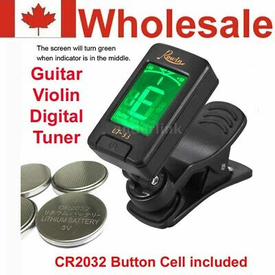 RowinAutomatic Digital Electronic Clip on Tuner LCD for Guitar and Violin Descri